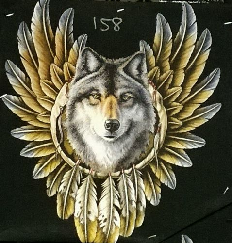 Giant Wolf Inside Dream Catcher Eagle Wings Magnificent Wolf Head Dream Catcher